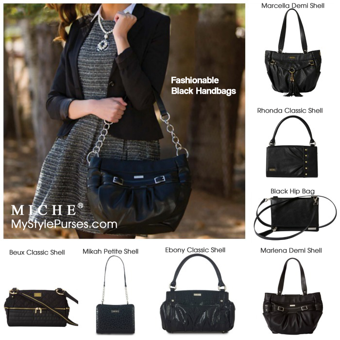 Fashionable Black Handbags for Fall from Miche