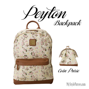 Miche Peyton Backpack and Coin Purse available at MyStylePurses.com