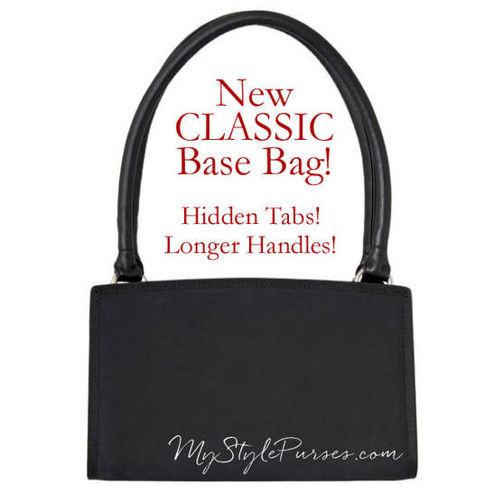 NEW Miche Classic Base Bag with hidden tabs and longer handles available at MyStylePurses.com